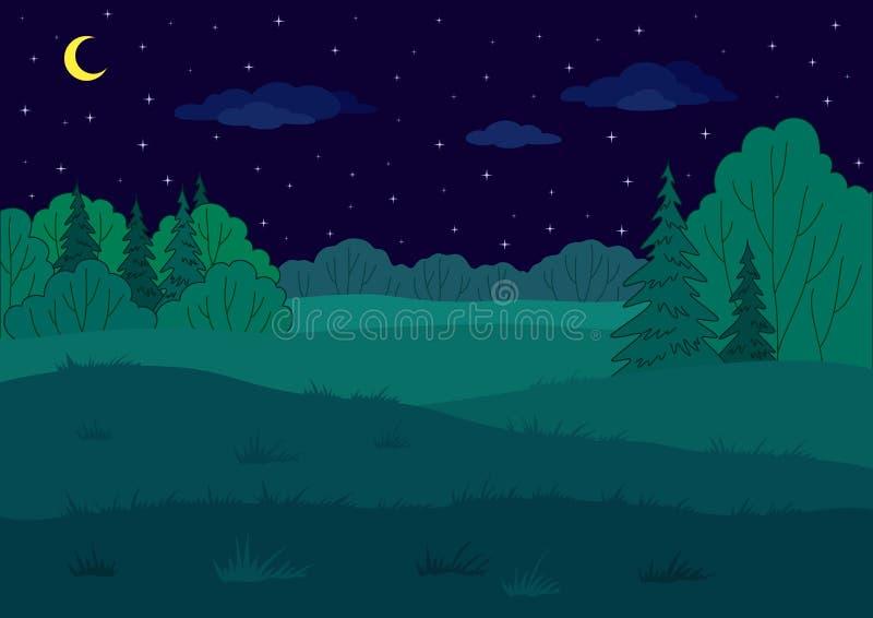 Paisaje, claro del bosque del verano ilustración del vector