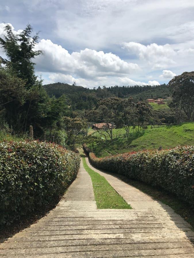 Paisaje colombiano cerca de la ciudad de medellin foto de archivo libre de regalías