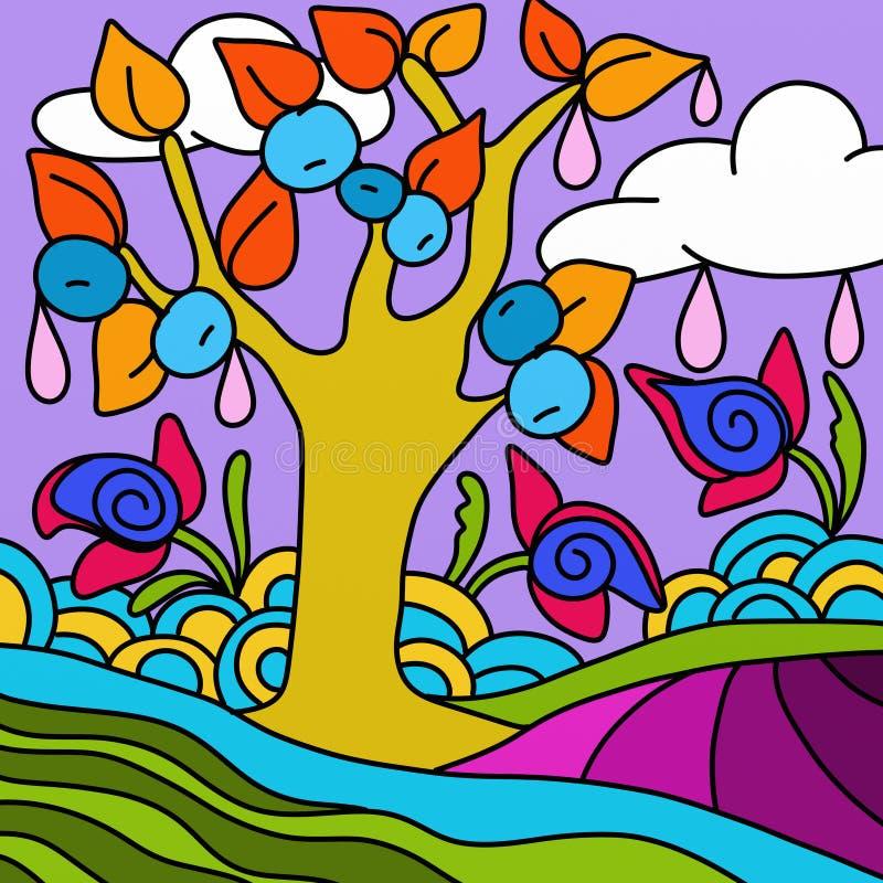 Paisaje colorido libre illustration