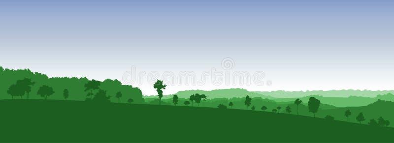 Paisaje colorido de la silueta libre illustration