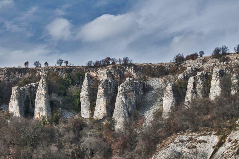 Paisaje con formaciones de roca interesantes imágenes de archivo libres de regalías