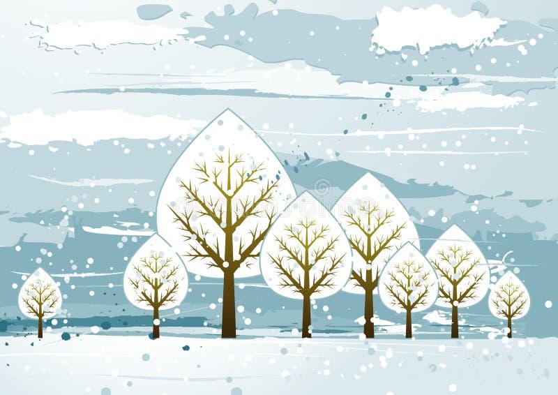 Paisaje con los árboles, vector ilustración del vector