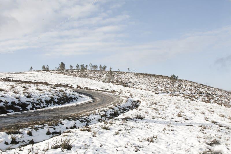Paisaje con nieve imagen de archivo libre de regalías