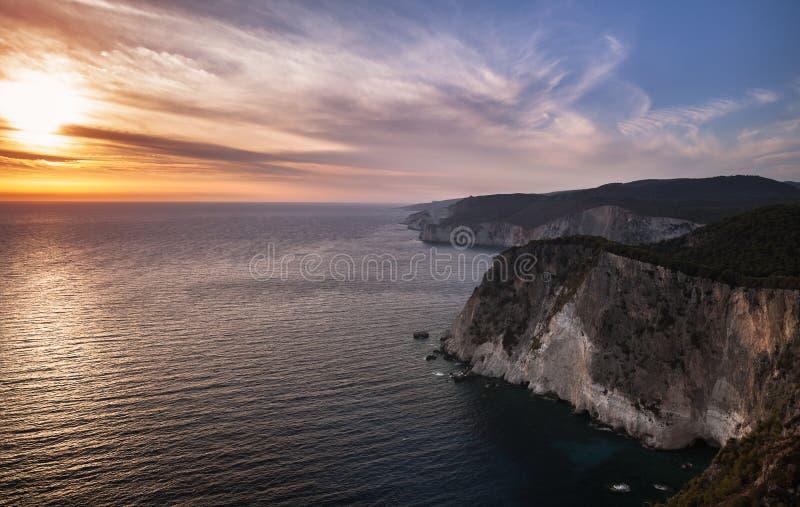 Paisaje costero oscuro del cabo Keri foto de archivo libre de regalías