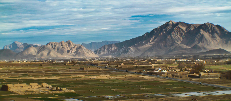 Paisaje de Afganistán imagen de archivo