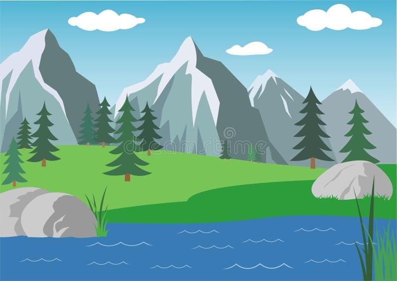Paisaje de Alpen stock de ilustración