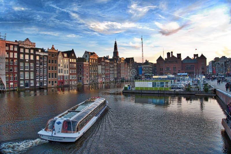 Paisaje de Amsterdam imagen de archivo libre de regalías