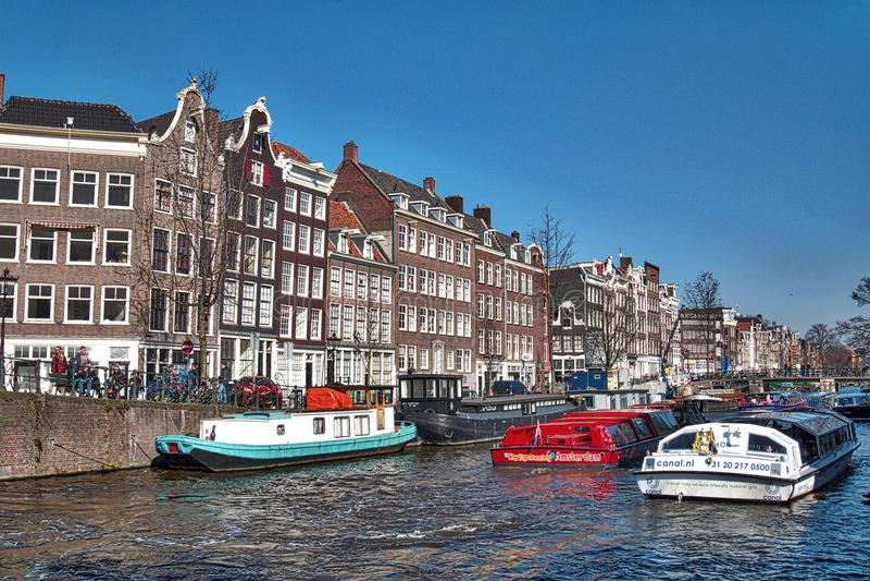 Paisaje de Amsterdam foto de archivo