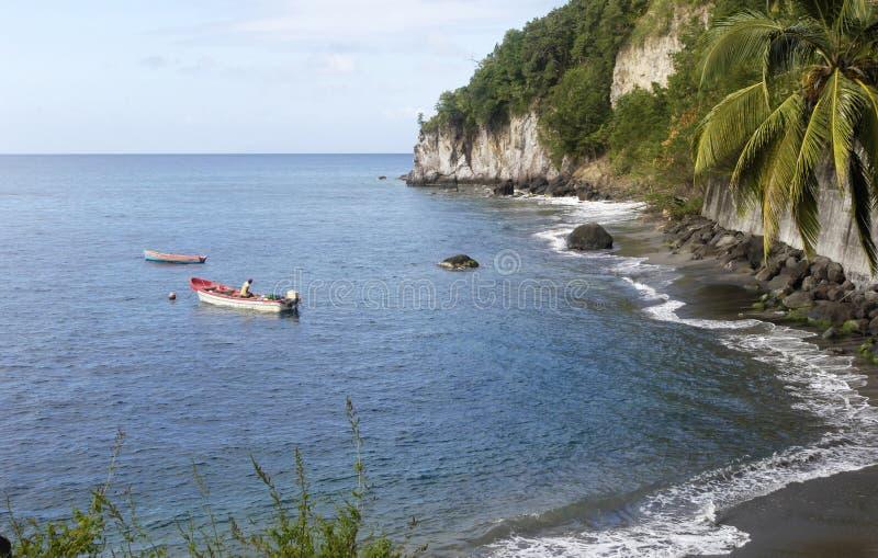 Paisaje de Anse Belleville en Martinica foto de archivo libre de regalías