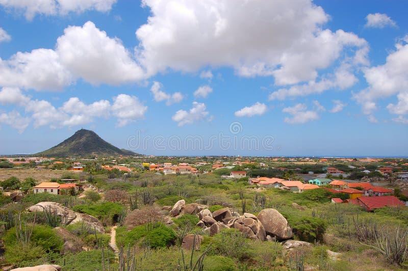 Paisaje de Aruba imagenes de archivo