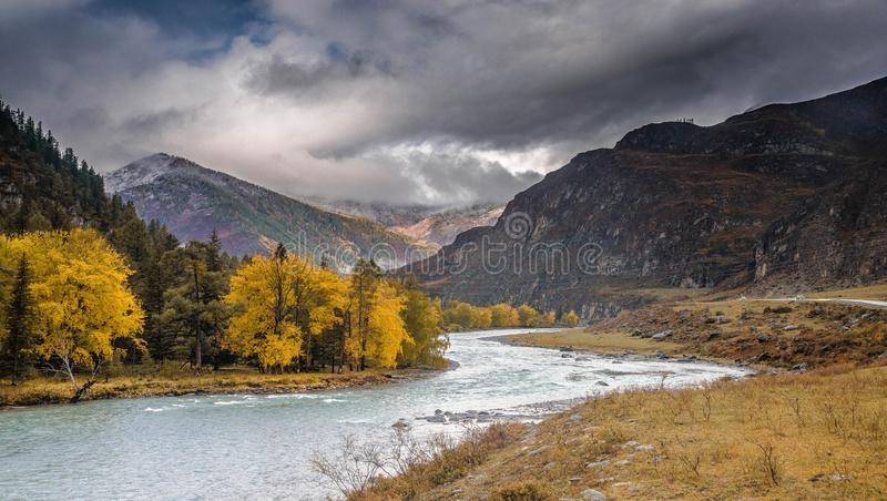 Paisaje de Autumn Altai fotografía de archivo libre de regalías