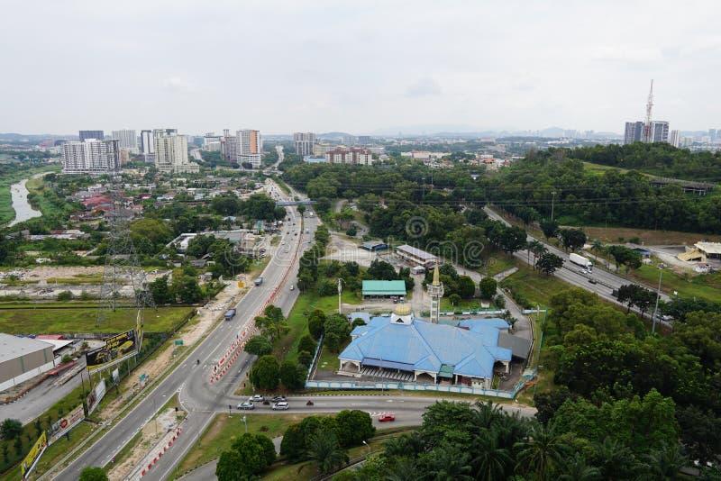 Paisaje de Batu Tiga en el Sah Alam Selangor Malaysia imágenes de archivo libres de regalías