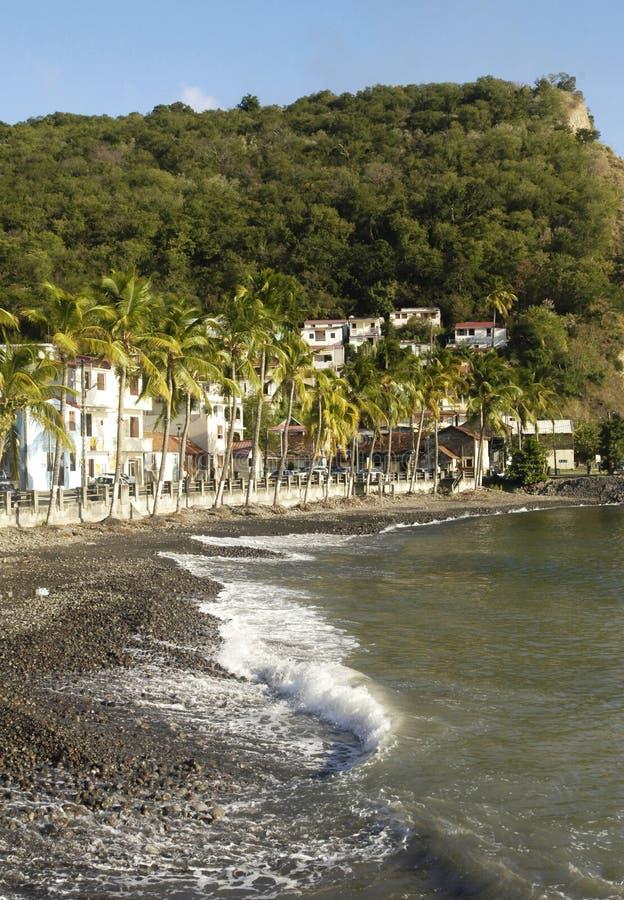 Paisaje de Bellefontainein Martinica fotos de archivo