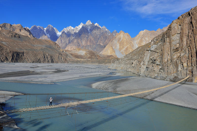 Paisaje de Beuatiful de Paquistán septentrional Región de Passu Montañas de Karakorum en Paquistán foto de archivo libre de regalías