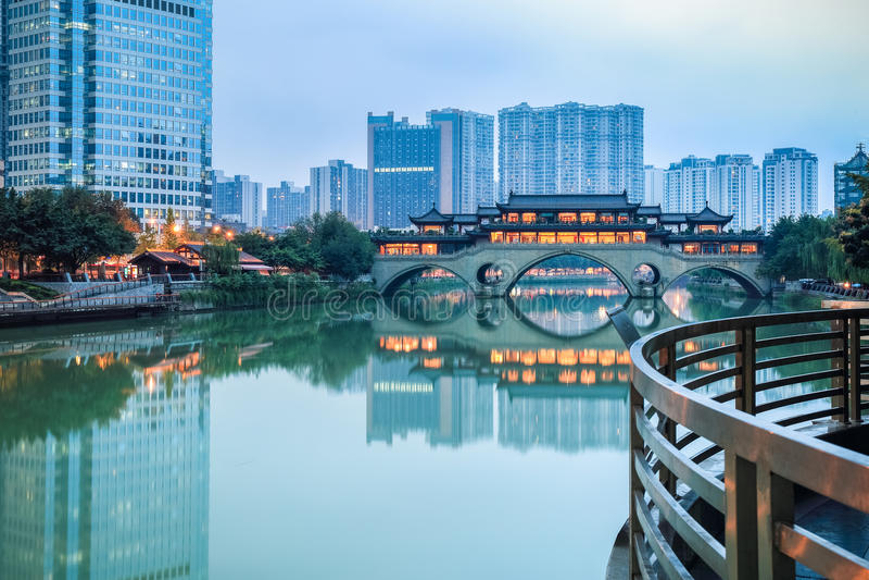 Paisaje de Chengdu imagen de archivo libre de regalías