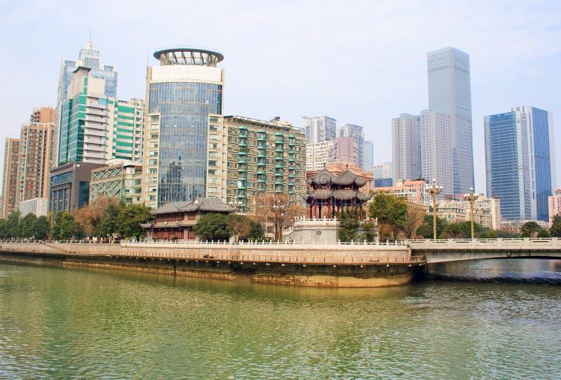 Paisaje de Chengdu imagenes de archivo