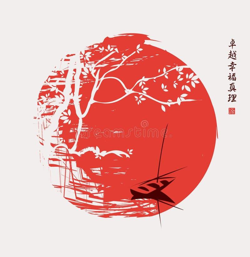 Paisaje de China ilustración del vector