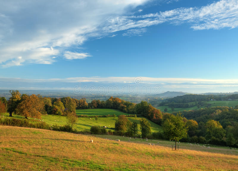 Paisaje de Cotswold, Inglaterra. imagen de archivo