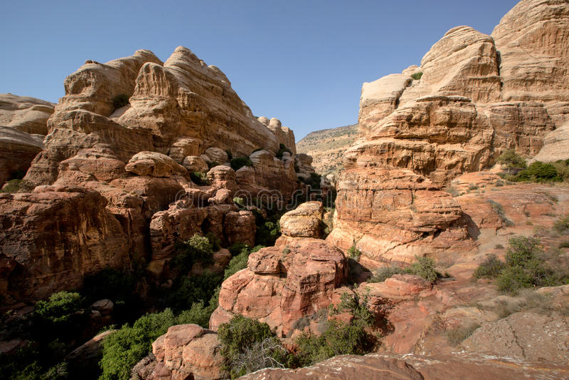 Paisaje de Dana National Park, Jordania foto de archivo libre de regalías