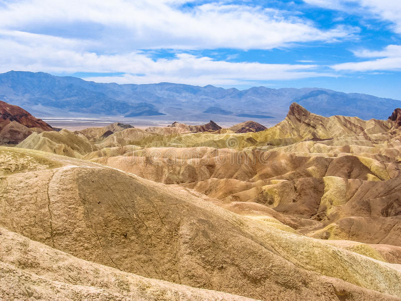 Paisaje de Death Valley, punto de Zabriskie imágenes de archivo libres de regalías