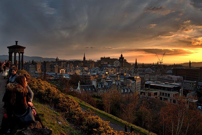Paisaje de Edimburgo fotografía de archivo