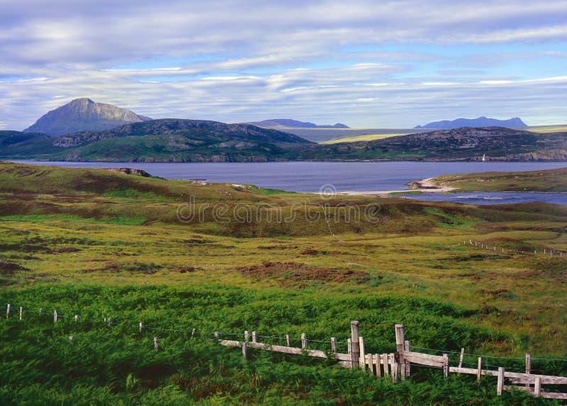 Paisaje de Eriboll del lago, Sutherland, Escocia fotografía de archivo