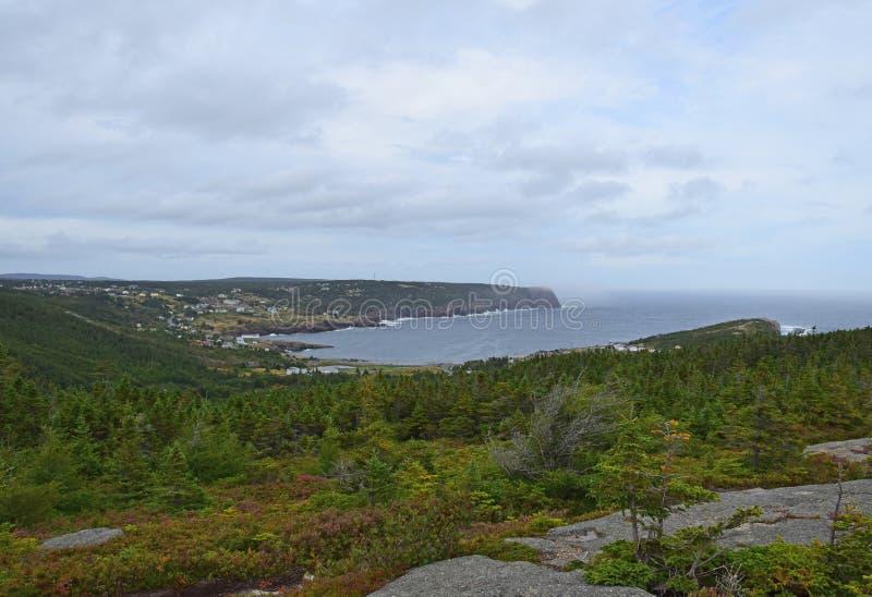 Paisaje de Flatrock, NL Canadá fotos de archivo