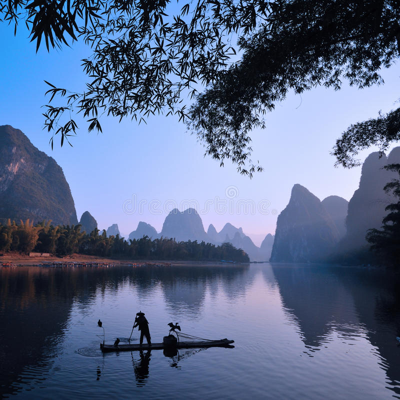Paisaje de Guilin foto de archivo
