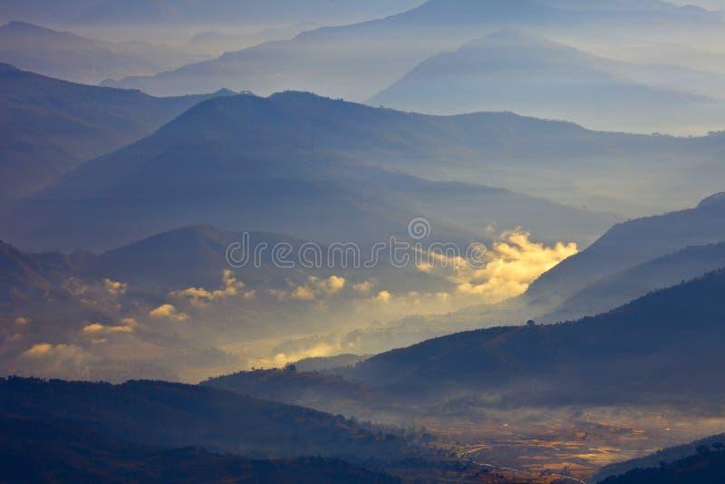Paisaje de Himalaya imagen de archivo