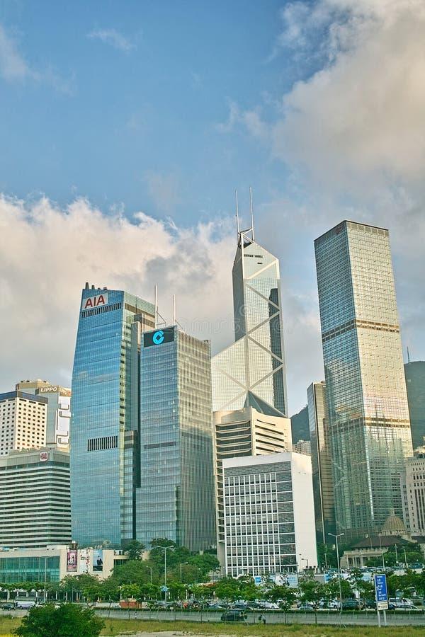 Paisaje de Hong Kong Central imagenes de archivo