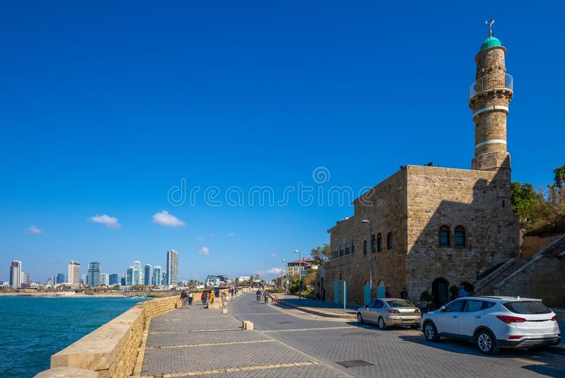 Paisaje de Jaffa en Tel Aviv, Israel imagenes de archivo