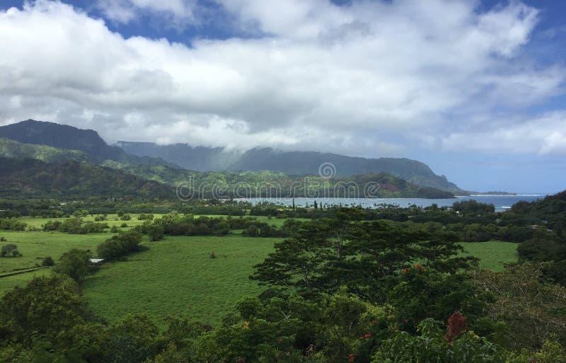 Paisaje de Kauai fotos de archivo