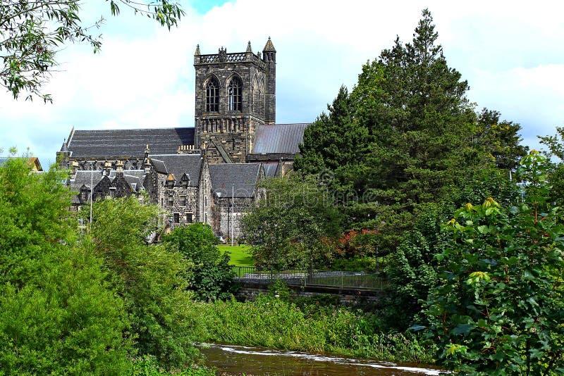 paisaje de la abadía de Paisley en el ajuste rural foto de archivo
