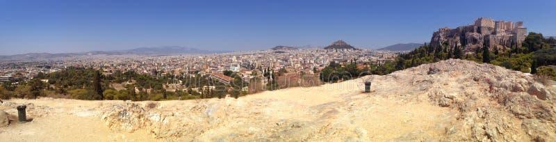 Paisaje de la acrópolis del Athene imágenes de archivo libres de regalías