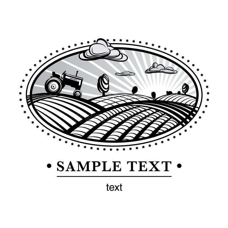 Paisaje de la agricultura stock de ilustración