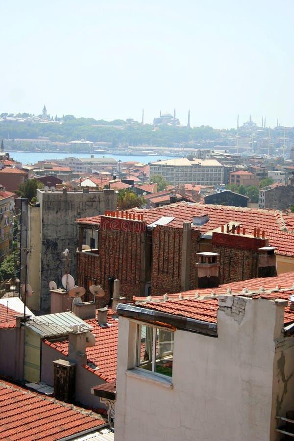 Paisaje de la azotea de Estambul fotografía de archivo libre de regalías