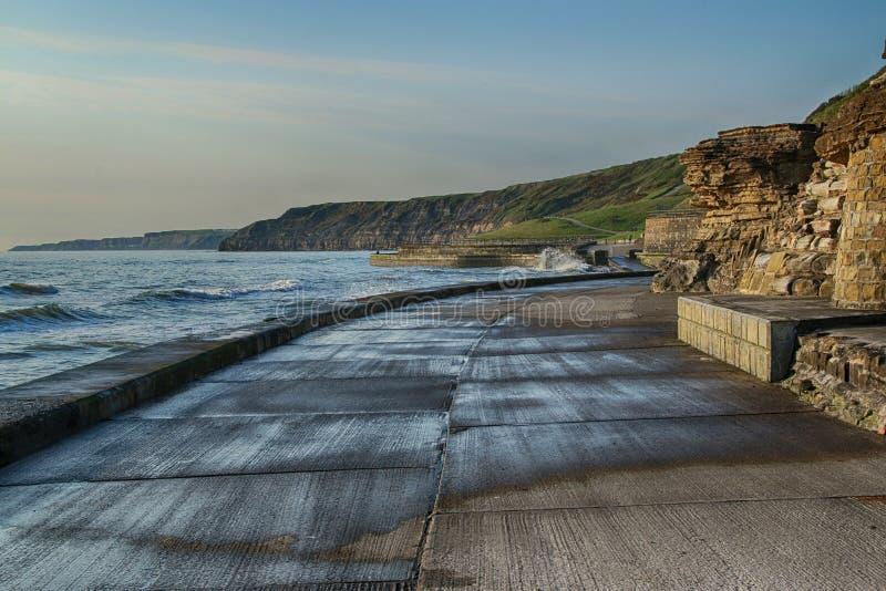 Paisaje de la bahía del sur, Scarborough, North Yorkshire imagen de archivo libre de regalías