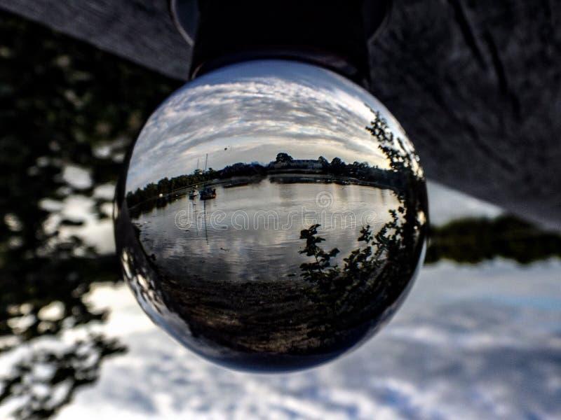 Paisaje de la bola de cristal fotos de archivo