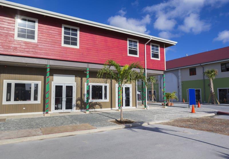 Paisaje de la calle de la ciudad del camino de ciudad en Tortola fotos de archivo