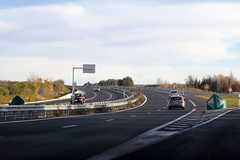 Paisaje de la carretera imagen de archivo