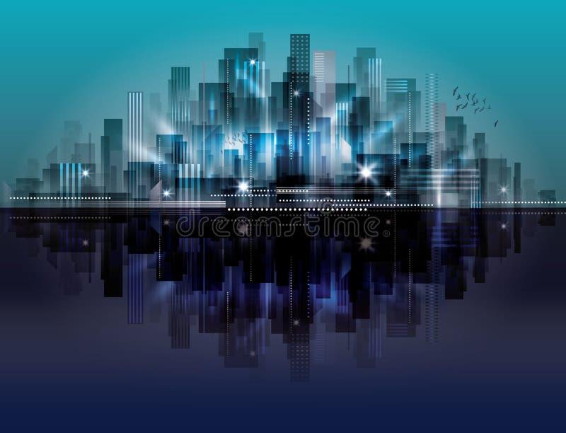 Paisaje de la ciudad stock de ilustración