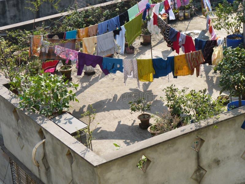 Paisaje de la ciudad Bangladesh de Dacca foto de archivo libre de regalías