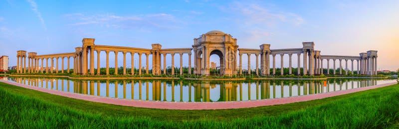 Paisaje de la ciudad, China de la ciudad de Tianjin imagen de archivo