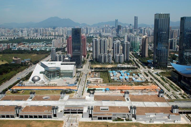 Paisaje de la ciudad de Shenzhen fotos de archivo libres de regalías