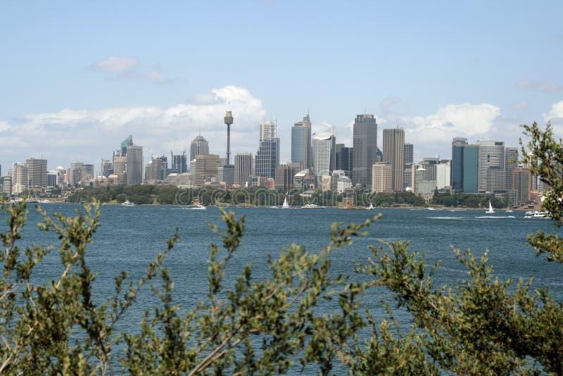 Paisaje de la ciudad de Sydney fotografía de archivo