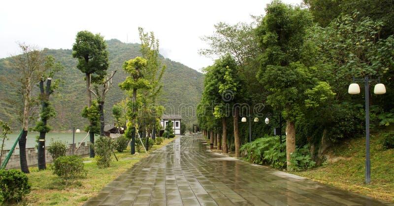 Paisaje de la ciudad del baidi del fengjie fotos de archivo