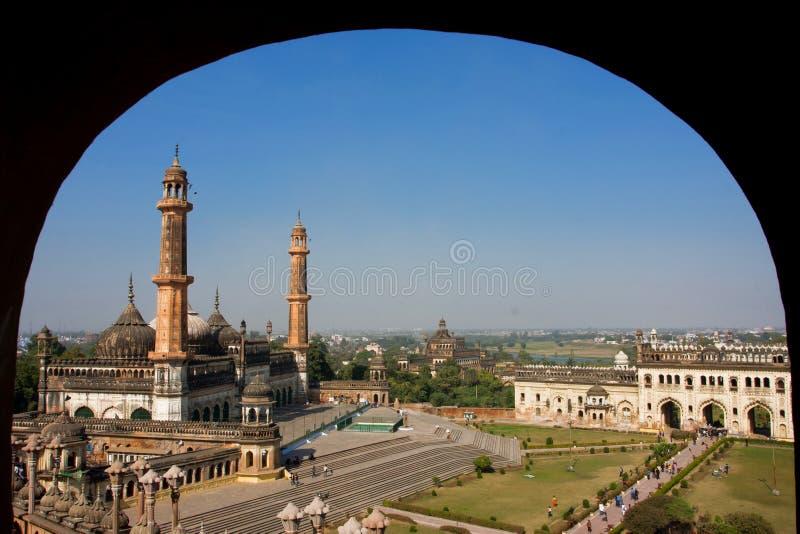 Paisaje de la ciudad india con la mezquita hermosa fotos de archivo