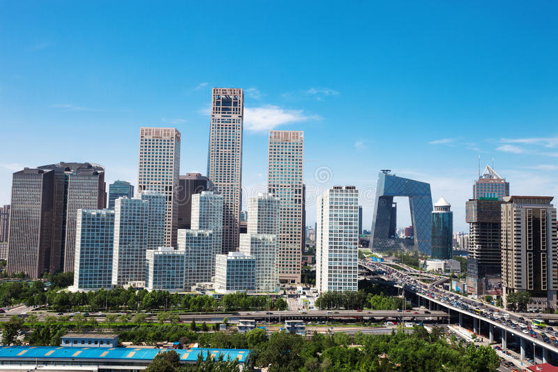 Paisaje de la ciudad moderna, Pekín imagen de archivo libre de regalías