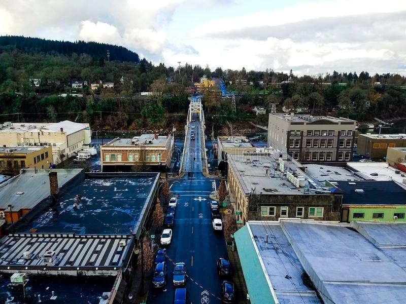 Paisaje de la ciudad de Oregon foto de archivo libre de regalías