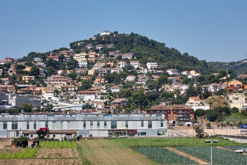 Paisaje de la ciudad Santa Susanna, España fotografía de archivo libre de regalías